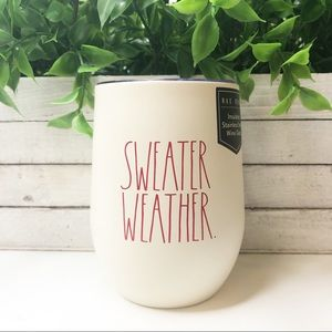 New Rae Dunn Sweater Weather Insulated Steel Cup